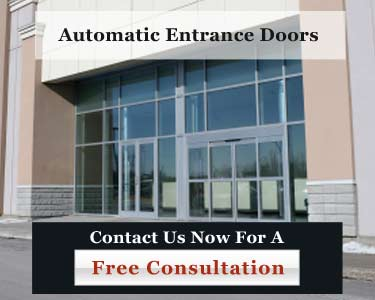 Commercial automatic entrance doors
