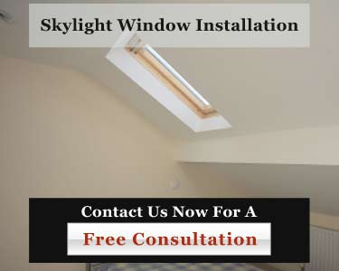 Commercial skylight window installation